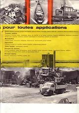 Catalogue  Berliet   Moteurs &  Applications Industrielles   Camion         1960