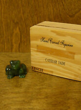 """Jade by Cassiar, 1 1/4"""" Canadian Jade FROG, our #CJ69, NEW/Box From Retail Store"""