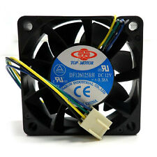 Top Motor DF126025BH 60mm x 25mm 12v high speed cooling fan PWM 4 pin wire