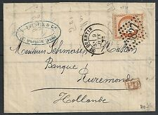 France 1873 40c folded receipt St.Quentin  to Ruremonde