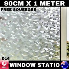 90CM x 1M Static Cling Glueless Reusable Removable Privacy Window Glass Film D16