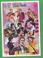 Elvis Presley Show Commemorative African Souvenir Stamp Sheet Chad E74