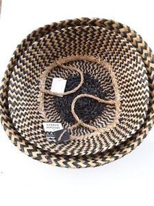 Home Essentials Round Seagrass Baskets, Set Of 2