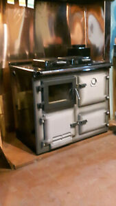 Flameview dry wood burning  cooker - Rayburn 300 type,glass door