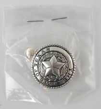 "1-1/4"" The State of Texas Concho - Double Rivet Back - Silverplate"