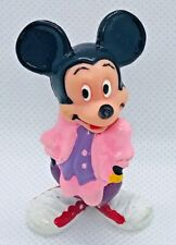 "The Walt Disney Co Applause Mickey Mouse Pink & Purple Pvc Figurine 2"" Vintage"