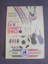 Everton v Manchester United - Charity/Community shield football programme 1985