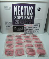 Nectus Soft Bait 2 Dozen(24)Rat & Mice Poison NEW FRESH Bromadiolone Free Ship!