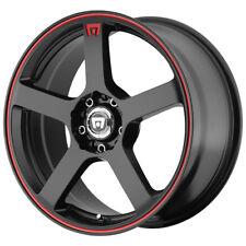 "4-15"" Inch 15x6.5 Motegi MR116 5x100/5x114.3(5x4.5"") +40mm Black/Red Wheels Rims"
