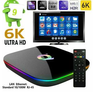 SMART TV BOX Q-PLUS ANDROID 9.0 4GB RAM 64GB 6K WIFI