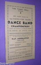 1943 MELODY MAKER DANCE BAND CHAMPIONSHIPS PROGRAMME. JAZZ SWING. WW2 HOME FRONT