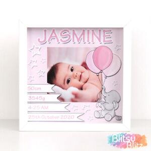 Personalised New Baby Gift / Christening Gift / Baby Girl Birth Print Frame Gift