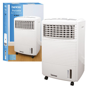 Portable Air Cooler Conditioning Unit Humidifier Timer Function 60W 7L White New