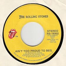 45RPM, ROLLING STONES ' AIN'T TO PROUD TO BEG ' EXC  ROCK