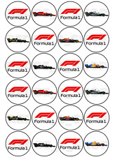 24 x F1 Formula 1 Theme Edible Cupcake Toppers Wafer Icing Decorations