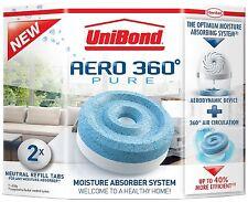 2 Unibond Aero 360 Moisture Absorber Dehumidifier Damp Trap Neutral Refill (1x2)