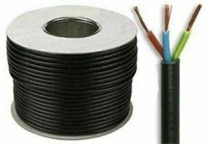 2.5mm Round Flex cable 3 core various lengths & colours