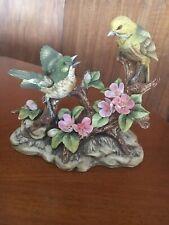 Vintage Andrea by Sadek - Warbler by Andrea Porcelain Bird Figurine Two Birds