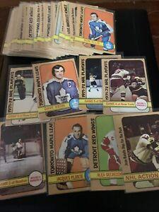 1972-73 OPC Hockey 50+ Lot G-VG-EX Stars O-pee-chee Plante Keon ++