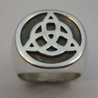 MJG STERLING SILVER JOHN PAUL JONES TRIQUETRA RING. SZ 10 1/4. LED ZEPPELIN