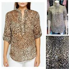 Zara Semi Fitted Blouses Collarless Tops & Shirts for Women