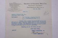 1918 Lamson Goodnow WW1 Brown Sharpe Mfg Co Providence RI Ephemera L925J