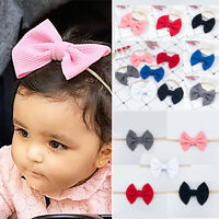 Baby Girl Hair Band Big Bow Headband Turban Knotted Hair Accessory Head Wraps