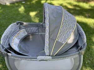 Graco Pack N Play Replacement Clip On BASSINET INSERT w/ Canopy NO Poles