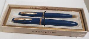 Sheaffer Feathertouch 5 Fountain Pen & pencil Set  Circa 1950's