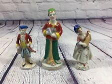 3 Vintage Occupied Japan Porcelain Figurines / Collectibles Victorian Oriental