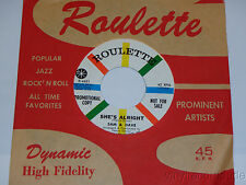 SAM & DAVE She's Alright / It Feels So Nice 1958 Promo NM CLEAN! Roulette R-4461