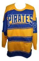 Custom Name # Pittsburgh Pirates Retro Hockey Jersey 1928 New Yellow Any Size
