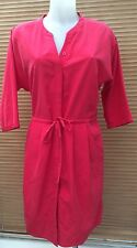 New Next size 10 Women's Red Dress, Tunic Button Up Front £42