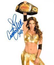 WWE DIVA CANDICE MICHELLE AUTOGRAPHED 8X10 CHAMPIONSHIP PHOTO AUTOGRAPH SIGNED