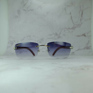 Cartier Rimless Wood Sunglasses Rimless Silver