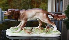 """Nymphenburg Porzellan Tierfigur """" Jagdhund """" naturalistische Darstellung !!"""