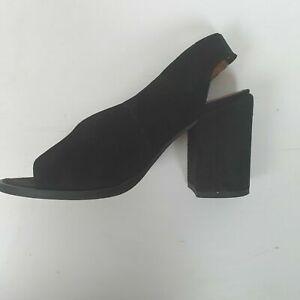 Carvela Kurt Geiger Black Sling Nack Suede Shoes Sz 36
