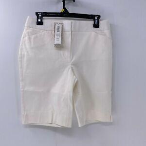 Chico's Women's Secret Stretch Shorts US 2 Alabaster NWT