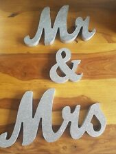 Wooden Standing Top Mr and Mrs Letters Sign  Table Wedding Decoration Hot