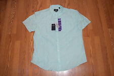 NWT NAT NAST Luxury Originals Linen S/S Button Up Shirt Green Striped S Small