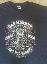 Big Men's 5 XL Gas Monkey Garage Kustom Builds Gorilla Face Hot Rod Tshirt