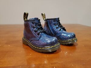Dr Martens 1460 Toddler Size 6 Blue Coated Glitter
