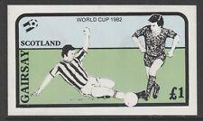 GB Locals GAIRSAY 7468 - 1982 FOOTBALL WORLD CUP souvenir sheet u/mint