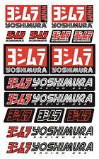 Yoshimura Sponsor Motorcycle Stickers Decals Set Honda Suzuki Laminated /53