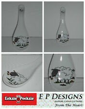 BN Large Ceramic Spoon Rest, Cartoon Sheep Design, Uk Seller, hand-decorated