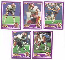 Washington Redskins 1989 Score Supplemental team set - Gerald Riggs, Joe Jacoby