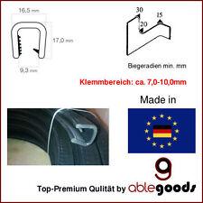 Meterware Kantenschutzprofil 16,5x17mm 7-8mm Klemmbereich Kantenschutzband