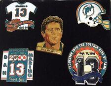 MIAMI DOLPHINS NFL Football 5 PINS Dan Marino #13 Retirement Induction Memories!