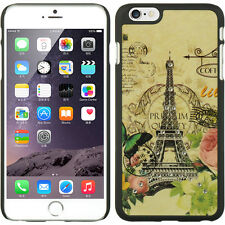 "iPHONE 6PLUS 5.5""  CRYSTAL RUBBER CASE SPOTS DIAMOND PARIS AMOUR -GY B"