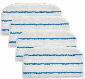 4 x FSM Type Washable Microfibre Cleaner Pads for Black & Decker Steam Mop
